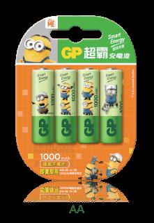 限量版GP「霸-那那」智醒充電池 AA 1000mAh